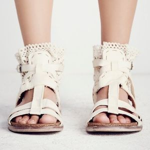 Free People Crochet Boot Sandals